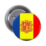 Bandera de Andorra Pin Redondo 5 Cm