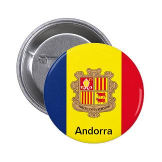 Bandera de Andorra Pin Redondo De 2 Pulgadas