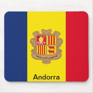 Bandera de Andorra Tapete De Ratón