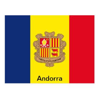 Bandera de Andorra Tarjeta Postal