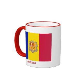 Bandera de Andorra Taza De Dos Colores