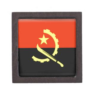 Bandera de Angola Cajas De Recuerdo De Calidad