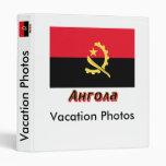 Bandera de Angola con nombre en ruso