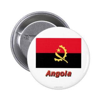Bandera de Angola con nombre Pins