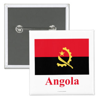 Bandera de Angola con nombre Pin