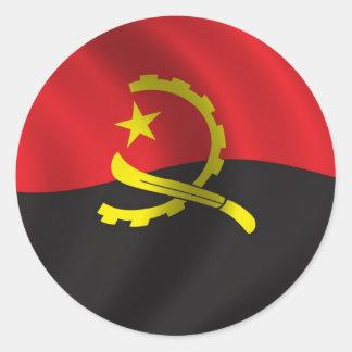 Bandera de Angola Etiqueta Redonda