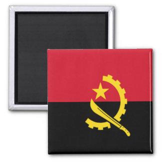 Bandera de Angola Imán Cuadrado