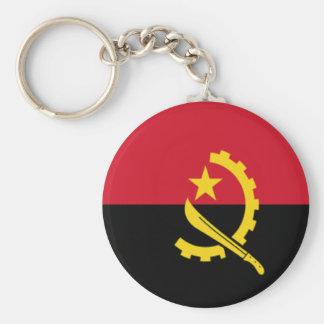 Bandera de Angola Llavero Redondo Tipo Pin
