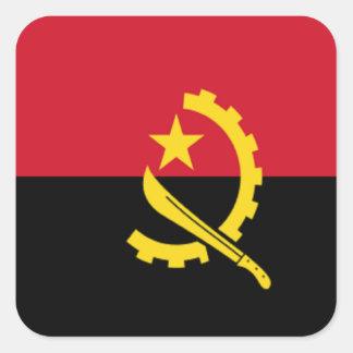 Bandera de Angola Pegatina Cuadrada