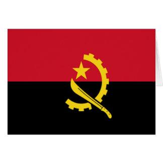 Bandera de Angola Tarjeta De Felicitación