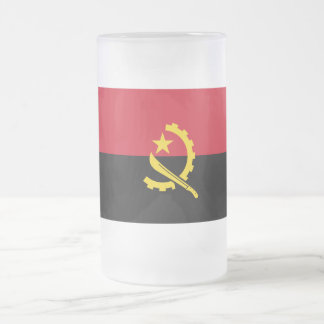 Bandera de Angola Taza De Cristal