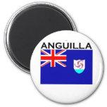 Bandera de Anguila Imán Redondo 5 Cm