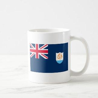 Bandera de Anguila Taza Básica Blanca