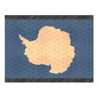 Bandera de Antartican del modelo del vintage Tarjeta Postal