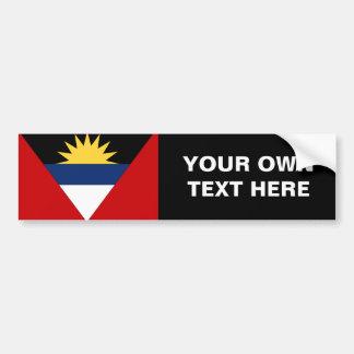 Bandera de Antigua y de Barbuda Pegatina Para Auto