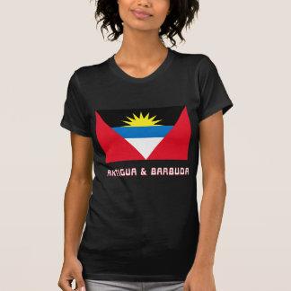 Bandera de Antigua y de Barbuda con nombre Camiseta