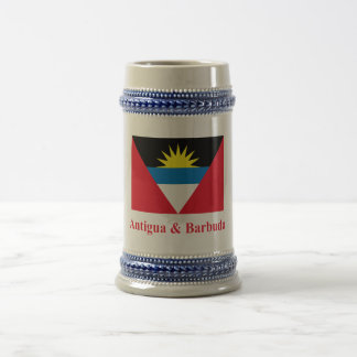 Bandera de Antigua y de Barbuda con nombre Tazas