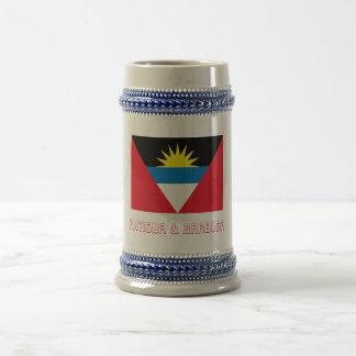 Bandera de Antigua y de Barbuda con nombre Tazas De Café