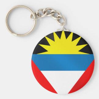 Bandera de Antigua y de Barbuda el Caribe Llavero Redondo Tipo Pin