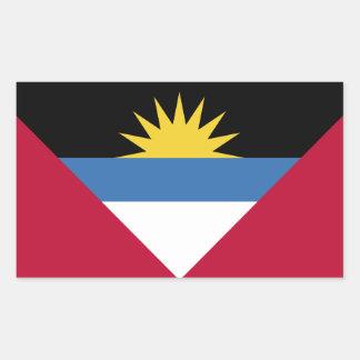 Bandera de Antigua y de Barbuda Pegatina Rectangular