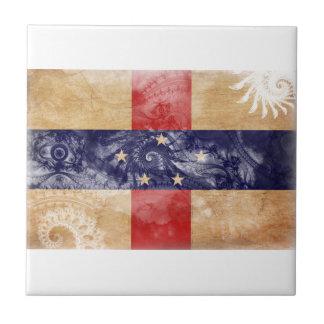 Bandera de Antillas holandesas Azulejo Cuadrado Pequeño