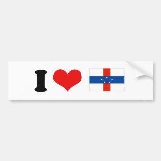 Bandera de Antillas holandesas Pegatina Para Auto