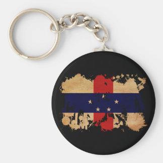 Bandera de Antillas holandesas Llavero Redondo Tipo Pin