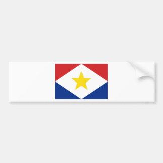Bandera de Antillas holandesas Saba Etiqueta De Parachoque