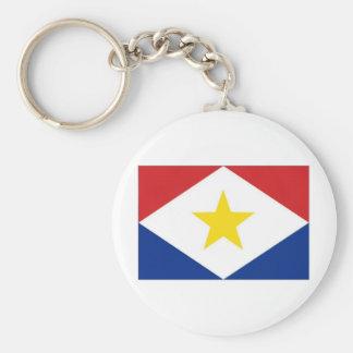 Bandera de Antillas holandesas Saba Llavero Redondo Tipo Pin