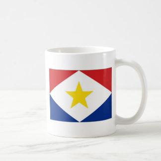 Bandera de Antillas holandesas Saba Tazas De Café