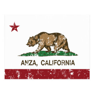Bandera de Anza de la república de California Postales