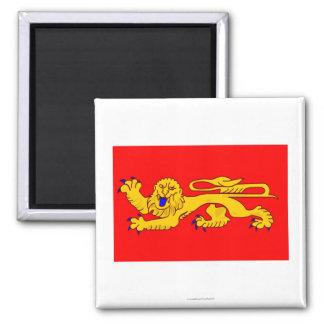 Bandera de Aquitania Imán Cuadrado