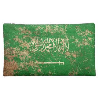 Bandera de Arabia Saudita envejecida áspera del