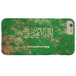 Bandera de Arabia Saudita envejecida áspera del Funda Para iPhone 6 Plus Barely There
