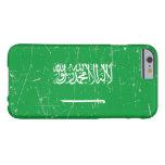 Bandera de Arabia Saudita rascada y rasguñada Funda De iPhone 6 Barely There