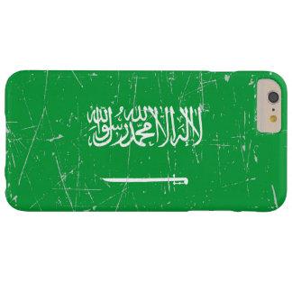 Bandera de Arabia Saudita rascada y rasguñada Funda De iPhone 6 Plus Barely There