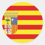 Bandera de Aragón Pegatina