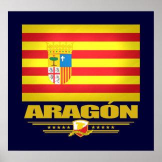 Bandera de Aragón Póster
