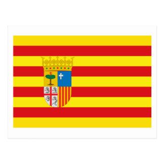 Bandera de Aragón Tarjeta Postal