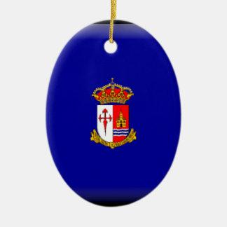 Bandera de Aranjuez Adorno Navideño Ovalado De Cerámica