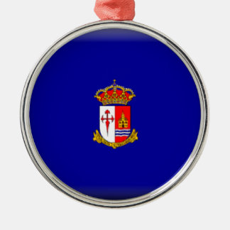 Bandera de Aranjuez Adorno Navideño Redondo De Metal