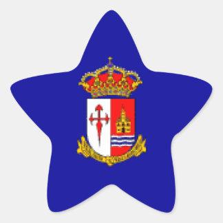 Bandera de Aranjuez Pegatina En Forma De Estrella
