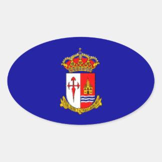 Bandera de Aranjuez Pegatina Ovalada