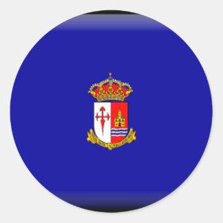 Bandera de Aranjuez Pegatina Redonda