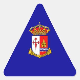 Bandera de Aranjuez Pegatina Triangular