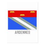 Bandera de Ardenas con nombre Postal