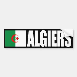 Bandera de Argel, Argelia Pegatina De Parachoque