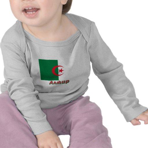 Bandera de Argelia con nombre en ruso Camisetas