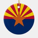 Bandera de Arizona Adorno Navideño Redondo De Cerámica