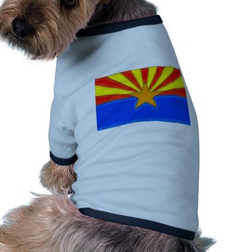 Bandera de Arizona brillante Camiseta Con Mangas Para Perro